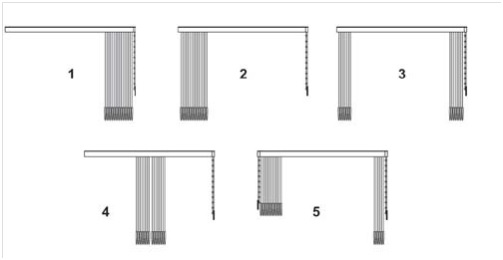 store intérieur à bandes verticales