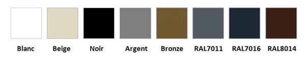 couleurs pergola aluminium avec toile velum sur mesure