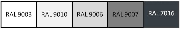 palette Ral archi 75