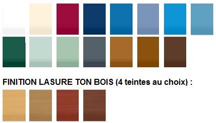 palette couleur volet bois